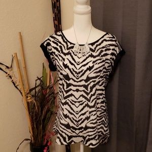 Express Short Sleeve Print Blouse / top